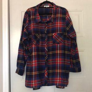 Grace & Lace plaid button up shirt XXL
